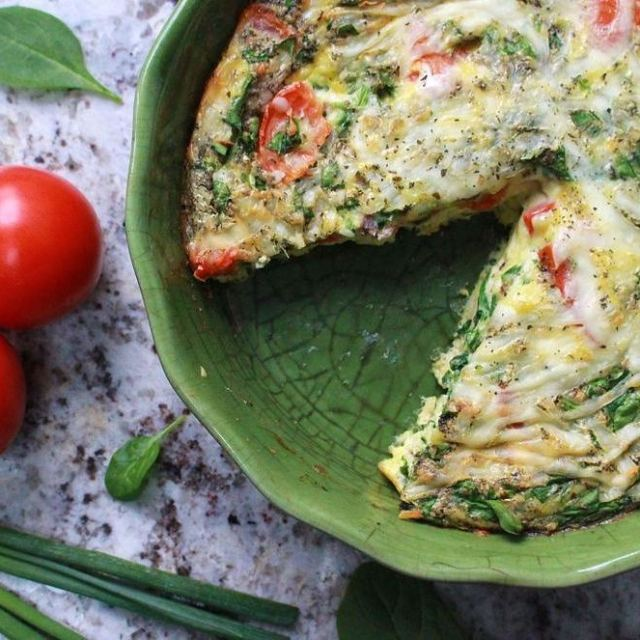 New recipe  pizza flavoured frittata Yum! Mozzarella Tomatoes Basilhellip