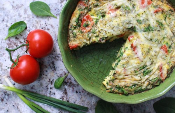 low fodmap pizza flavoured frittata