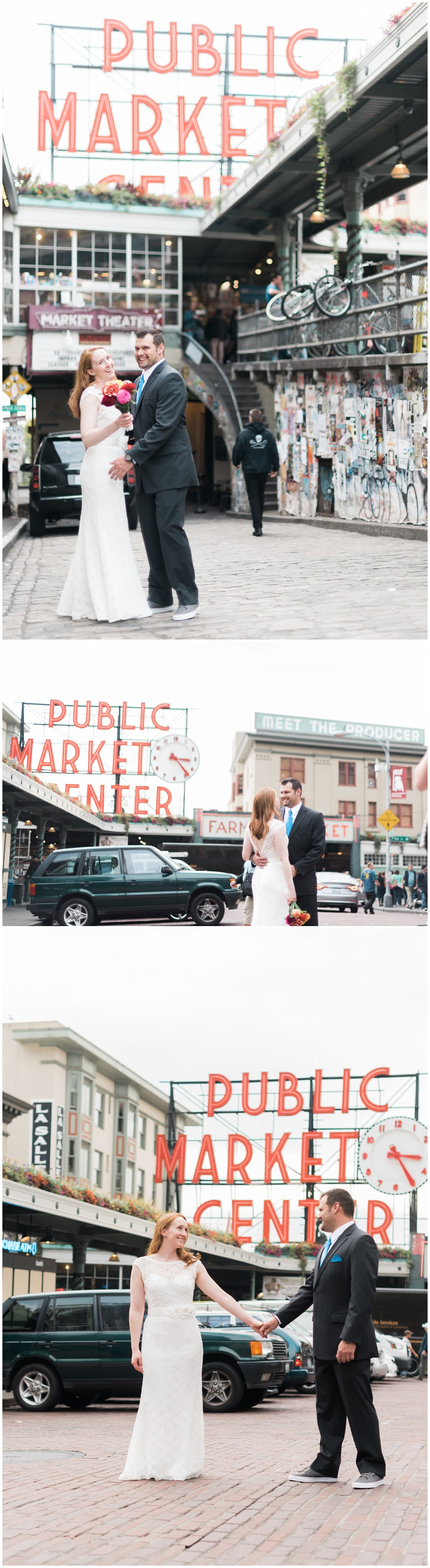 Seattle Destination Wedding Photographer, Seattle Elopement, Jenny Storment, Inn at the Market, Seattle Water Front, Pikes Market, Sculpture Park, Seattle, Seattle Ferry, Wedding Photographer, Seattle Roof Views, Pikes Market, Pikes Market Flowers,