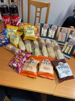 Rosebank surgery lunch donation