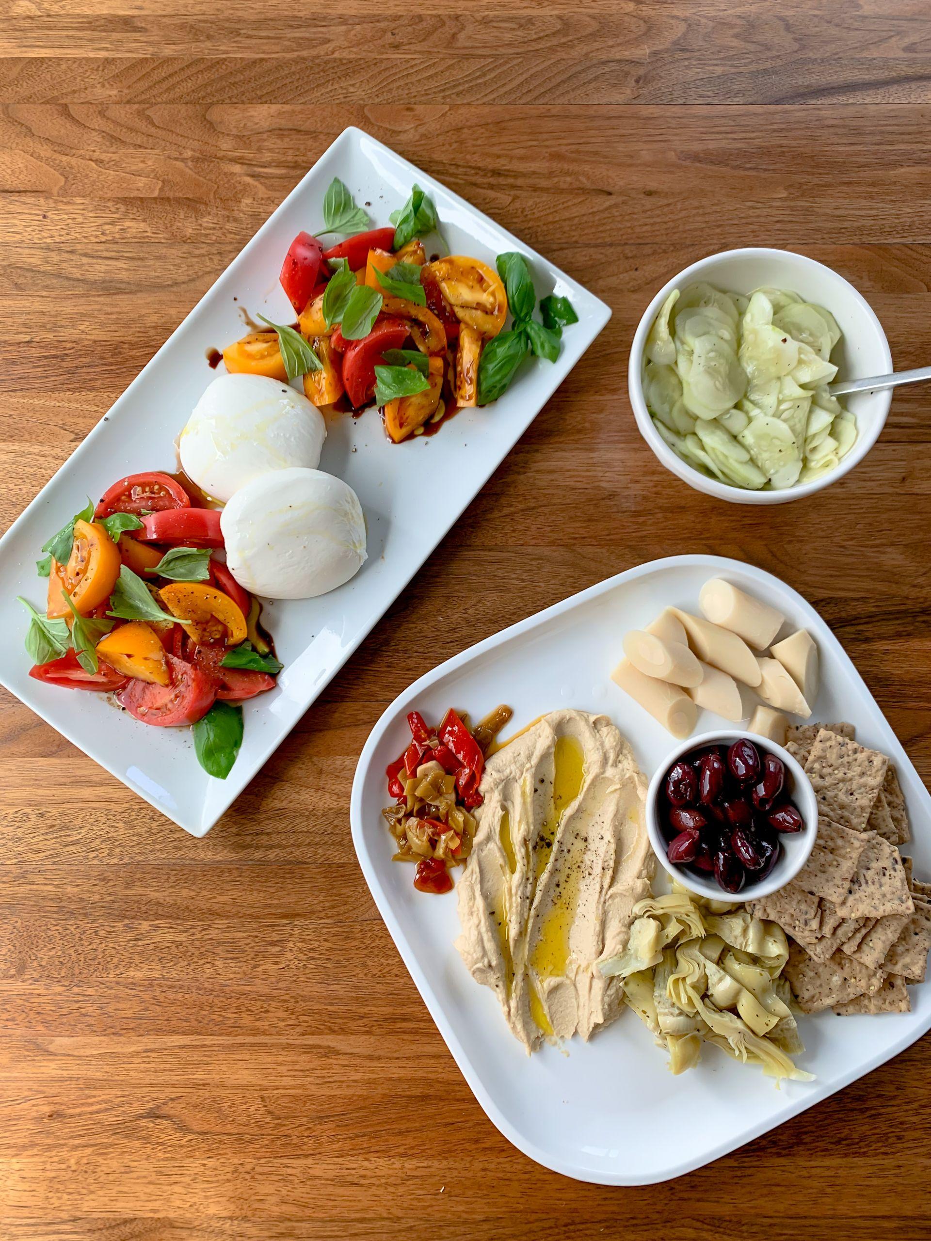 simple summer dinner - summer salads - Lauren Schwaiger healthy living blog