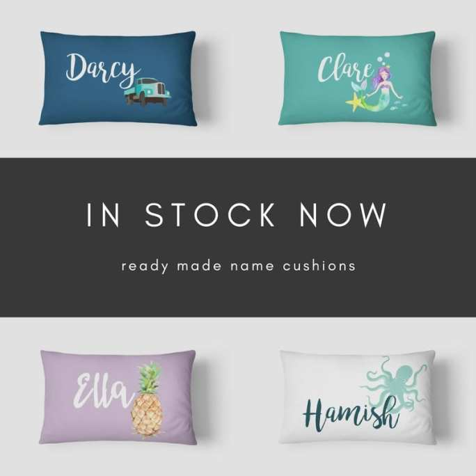 In Stock Name Cushions