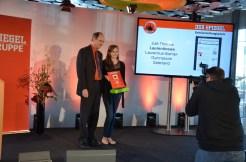 1. Platz für Jule Thomes im Bereich Wissenschaftsjournalismus.