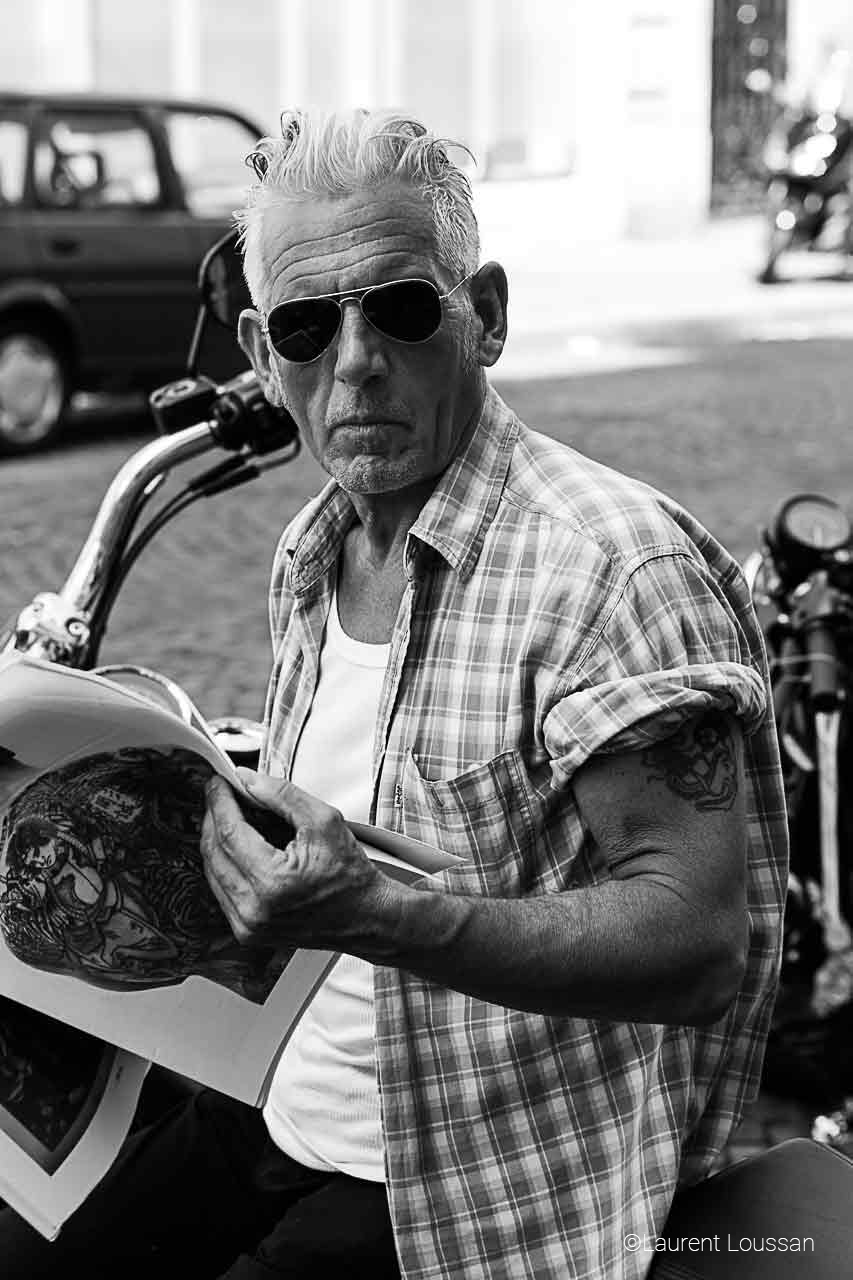 série Perfecto Patrick portrait noir et blanc ©Laurent Loussan shooting photo portrait