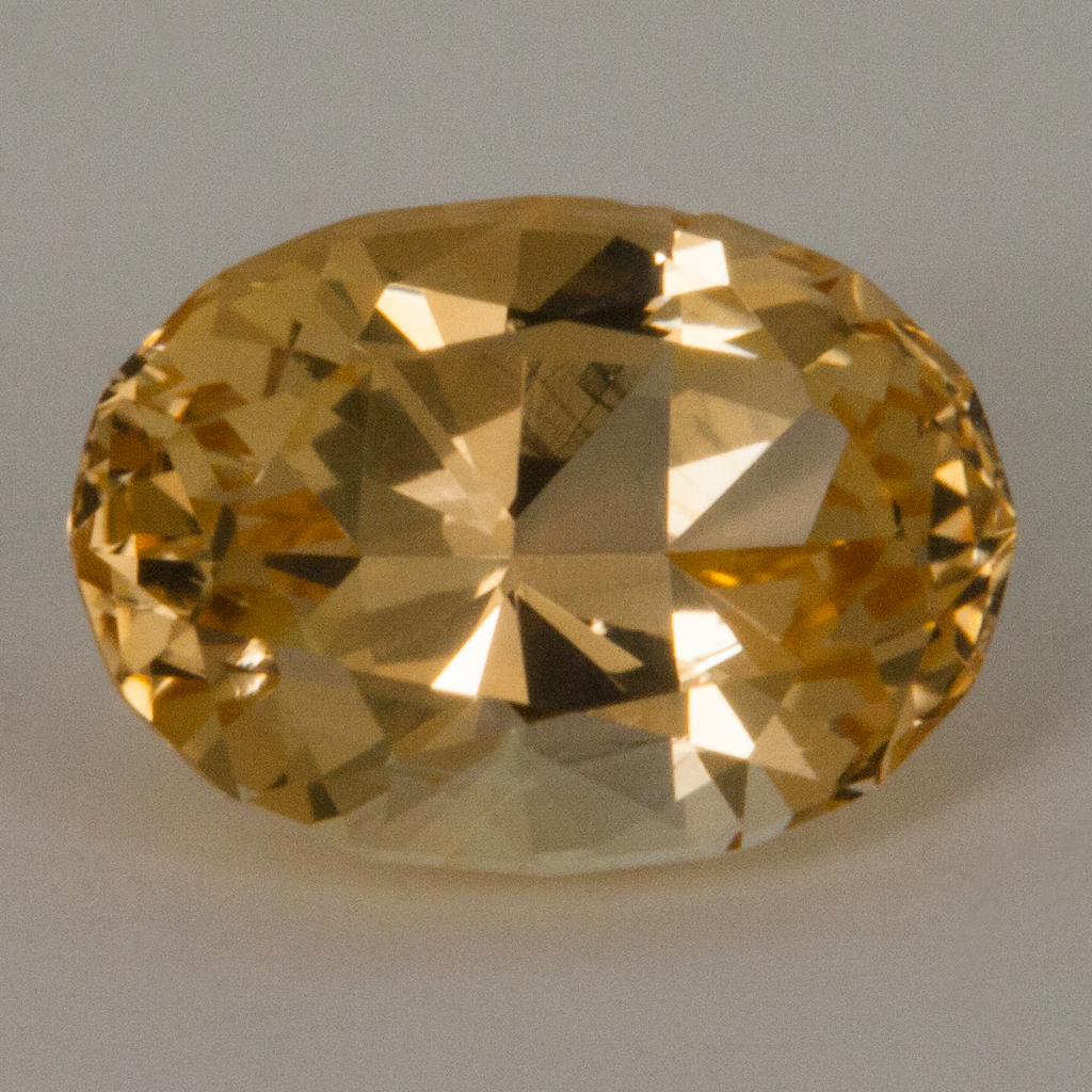 094 Carat Golden Topaz Oval Brilliant Cut Brazil