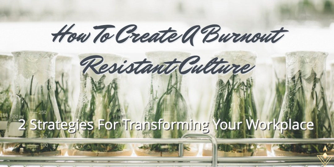 How To Create A Burnout Resistant Culture 2 Strategies for Transforming Your Workplace