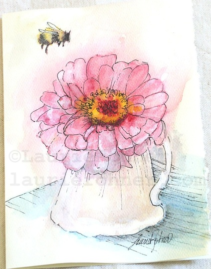 original watercolor nature art by Laurie Rohner