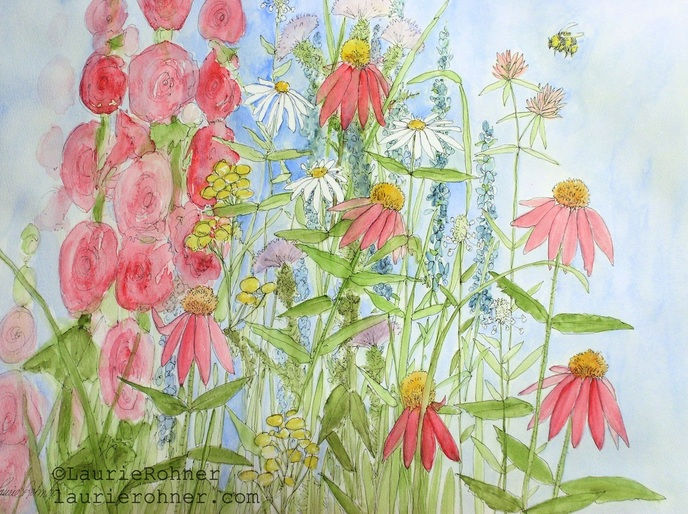 nature artist Laurie Rohner for Between The Weeds