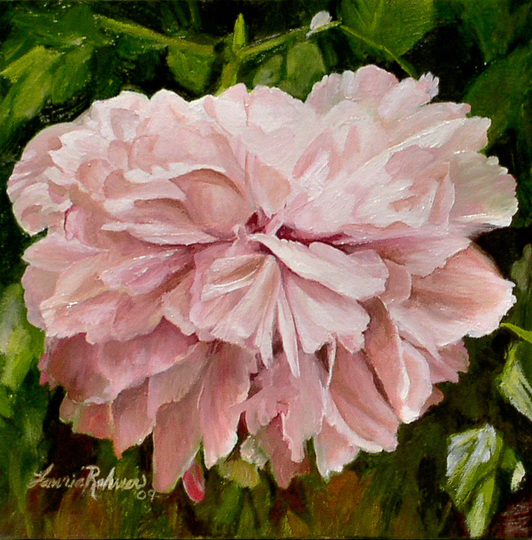 http://www.laurierohner.com/pink-peony-oil-painting-botanical-garden.html