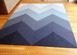 CUSTOM OMBRE CHEVRON RUG