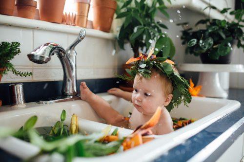 Baby's Sink Bath