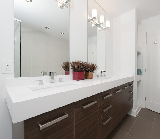 If you have a double sink vanity, you can either go for a single mirror wide enough to accommodate both sinks or install multiple mirrors.