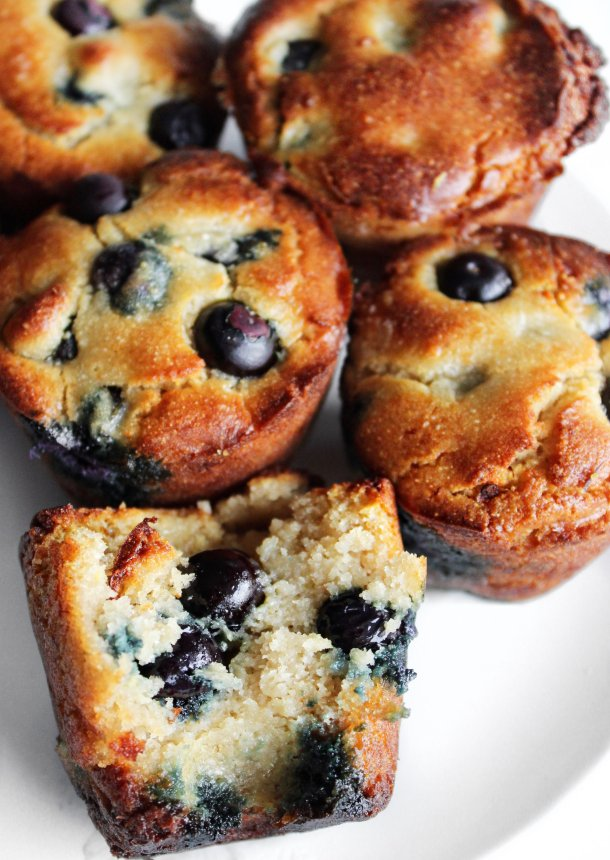 low sugar blueberry muffins