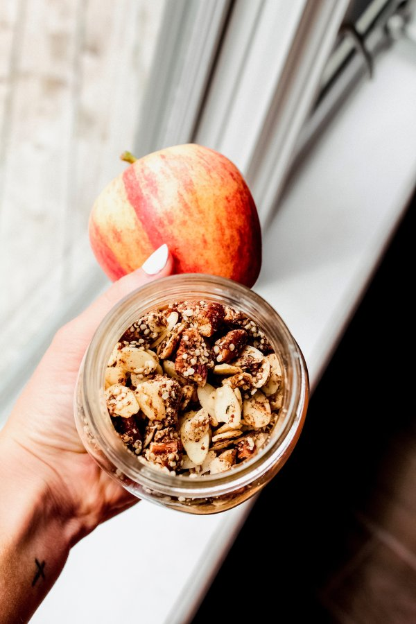 Apple Pie Granola [Paleo, Vegan, Grain-Free, One Bowl]