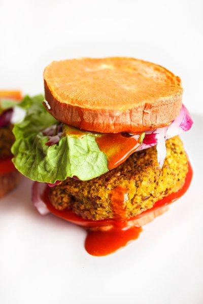 Bean-less Gluten-Free Veggie Burgers