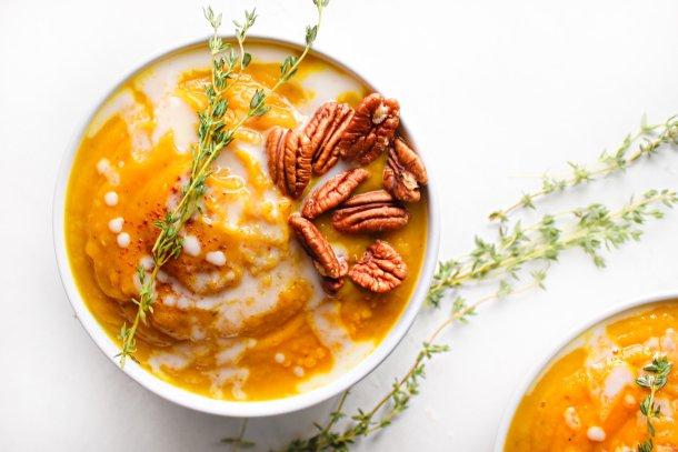 Butternut Apple Fall Soup [Dairy-Free, Vegan, Paleo, Whole-30]