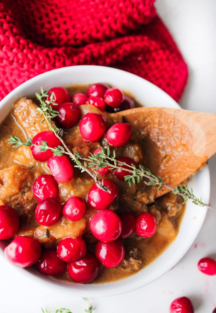 COZY CROCKPOT CRANBERRY APPLE PARSNIP SWEET POTATO BEEF STEW