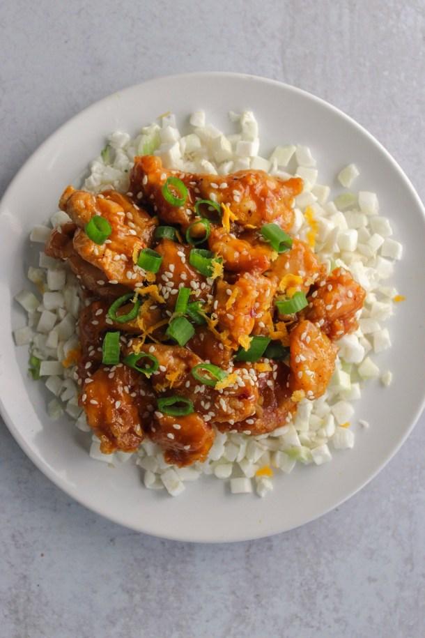 Healthy Crispy Orange Chicken
