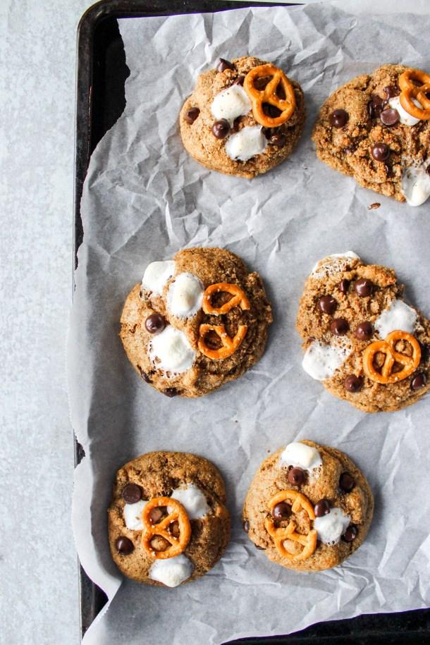 Healthier Rocky Road Cookies