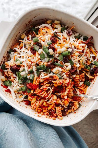 Vegetarian-Mexican-Pasta-Bake