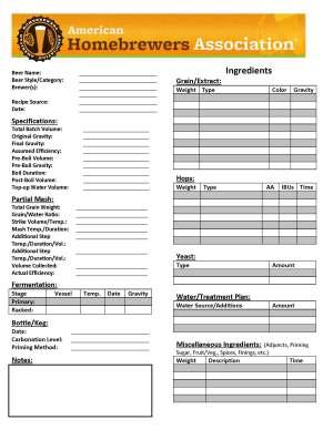 Partial-Mash-Notes-Sheet