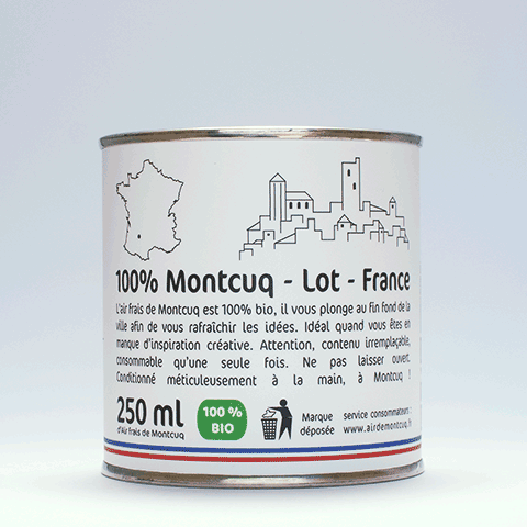 Insolite: achetez l'air de Montcuq!