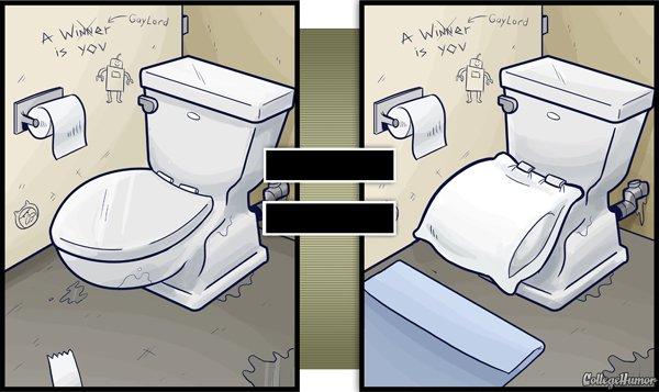 Vous prenez les toilettes pour un oreiller confortable sur lequel vous pouvez vous endormir