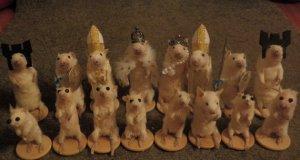 Vendu : un jeu d'échec avec des souris empaillées