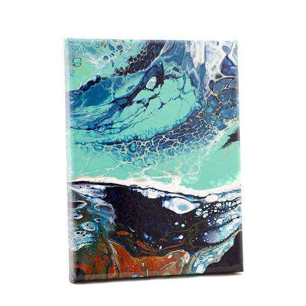 Oceans II, small artwork, acrylic on canvas