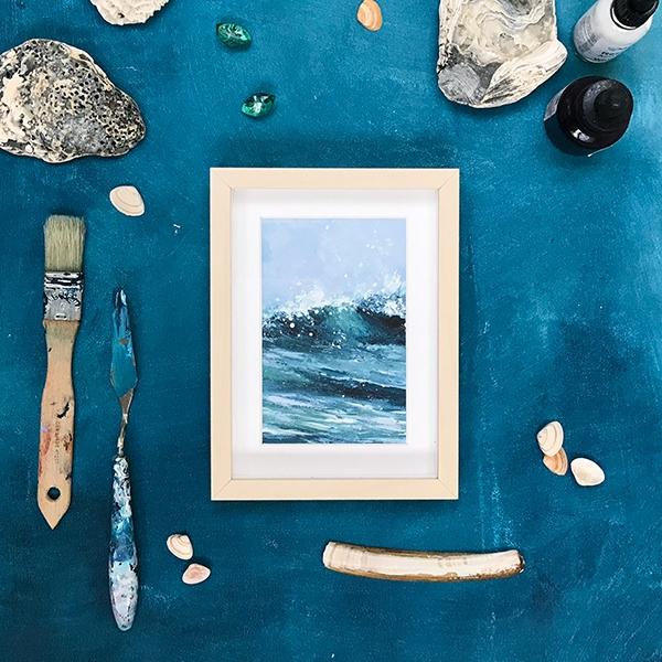 Summer – acrylic on paper, framed