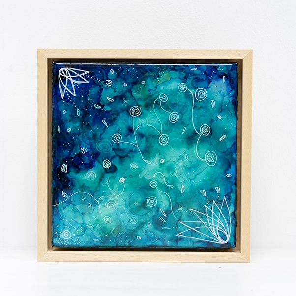 Origins – resin on panel in frame