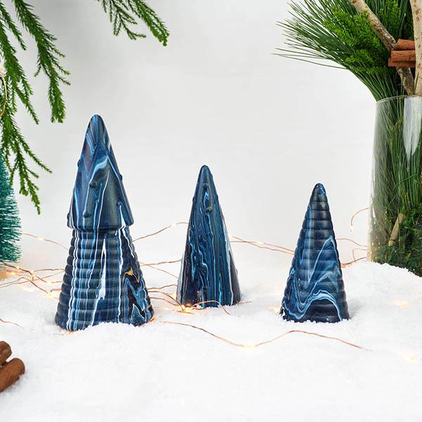 Kerstboompjes terracotta