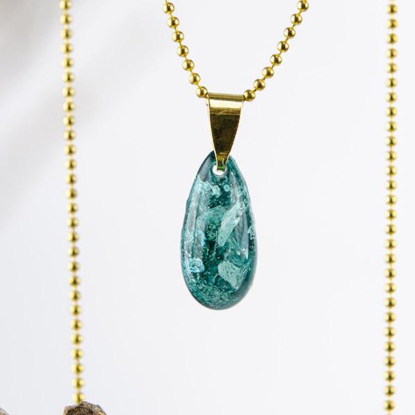 Ketting klein turquoise goud