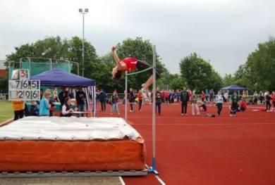 Übersprungene 2,06m von Jan Hentel, LG Hannover
