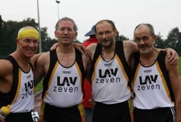 4x200m Staffel: v.l.n.r.: Hans-Georg Müller, Jürgen Umann, Joachim Hickisch, Helmut Meier