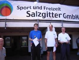 Siegerehrung M35 Zweifacher Landesmeister Mark Kölzow