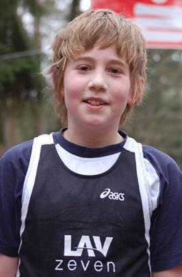 Jan Fricke wurde bei den Schülern B (M 12) Vizemeister.