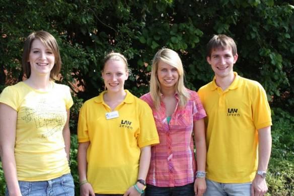 Foto: von links: Merle Zabel, Kelly Vermeer, Janina Rimkus, Leon Zabel