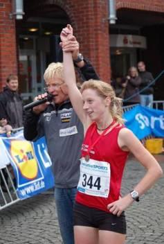 Sandra Schröder (TSV Neuenwalde)stellte über 10 km mit 40:14min. einen neuen Veranstaltungsrekord auf.