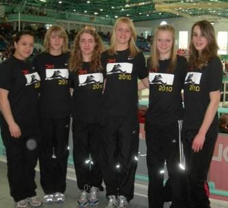 v.l.n.r.: Resa Martens, Sarina Holsten, Tami Gerken, Anna Tomforde, Mareike Schuster und Chantal Raas
