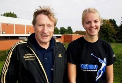 Über die Aufstellung neuer Rekorde im Hammerwurf konnten sich Michelle Wenzel und Hans-Hermann Neblung freuen.