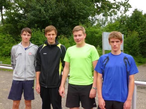 Foto: von links: Nils-Henrik Meyer, Jost-Ole Fasel, Thore Michaelis, Janik Dohrmann