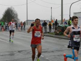Marco Miltzlaff auf der Marathonstrecke