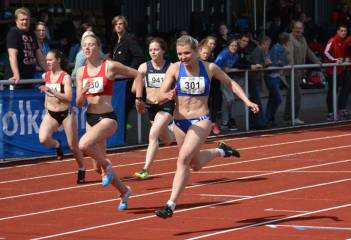 Tracey Schulz (Nr. 301, SC Neubrandenburg) siegte im A-Finale über 100m der weiblichen Jugend U20 mit 11,98 sec.
