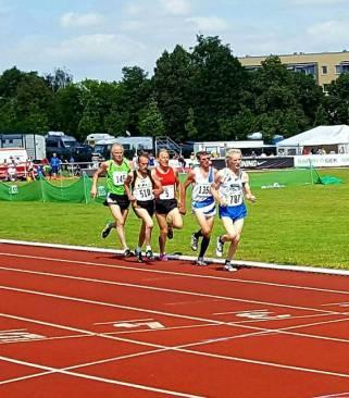 Finale 1500m M65, Hier noch auf dem Vierten Platz Detlef Wickmann
