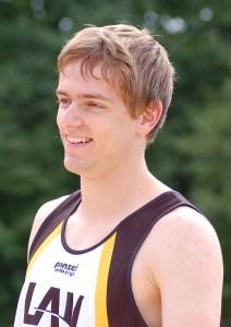 Janik Dohrmann, Mitglied der Zevener 4 x 100 m Staffel der U 20.