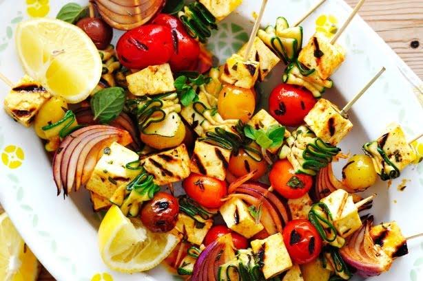 зеленчукови шишчета с кускус