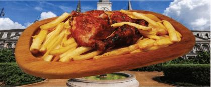 Южняшко пиле - поднесено върху дървен поднос LAVA от африкански тик