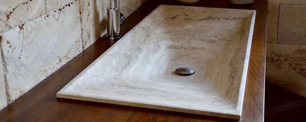 Lavandini in travertino lavandino in marmo - Lavandini da cucina ...