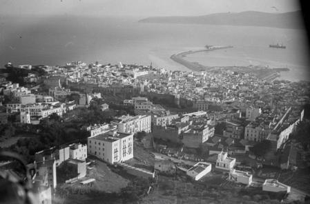 Vista aérea de Tánger en 1932.
